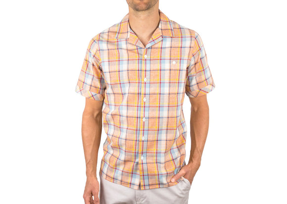 Camp Collar Button Down - Orange Plaid - c6d9.co [#product_title]