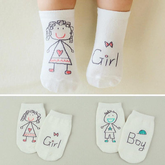 LouLi We Love You Doodle Baby Socks - c6d9.co [#product_title]