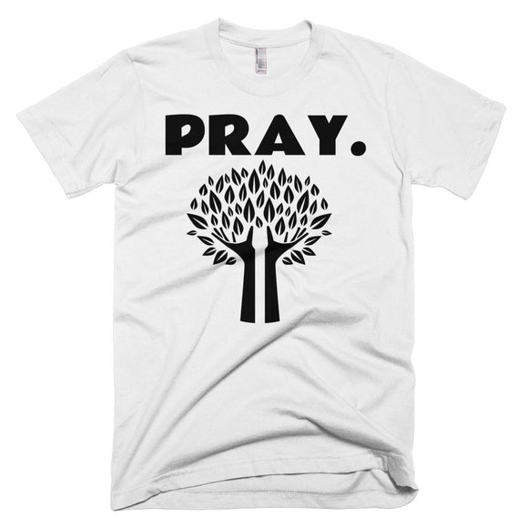 Pray. Motivational Designer T-shirt Desinger T-shirt.  Exclusive Design. Short-Sleeve T-Shirt - c6d9.co [#product_title]