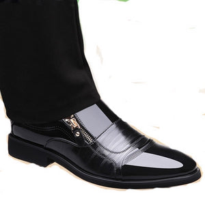 Genuine Leather Oxford Men's Business Shoes High Quality Soft Casual Breathable Men's Flats - c6d9.co [#product_title]