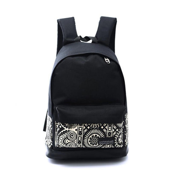Unisex Canvass Backpack - Solid Bag - Limited Lifetime Warranty - c6d9.co [#product_title]
