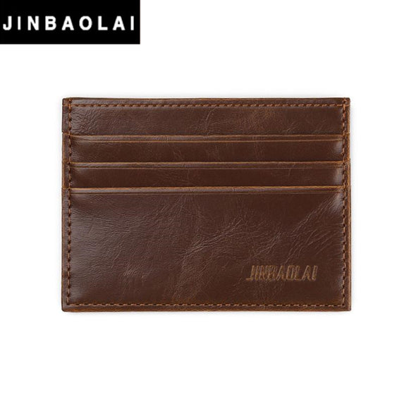 JINBAOLAI Men Card Holder Business Mens Simple PU Leather skin Credit ID Card Slim Purse Mens Wallet#YHYE - c6d9.co [#product_title]