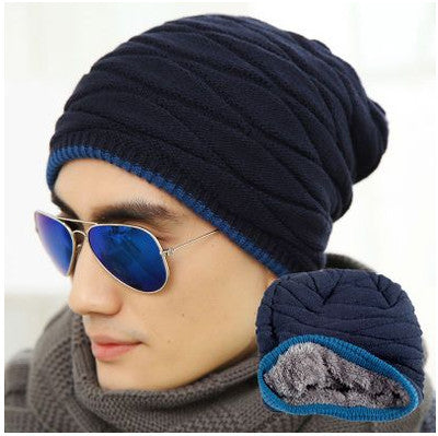 Velvet Beanie Warm Knitted Hat for Men And Women Elastic in Two Styles - c6d9.co [#product_title]