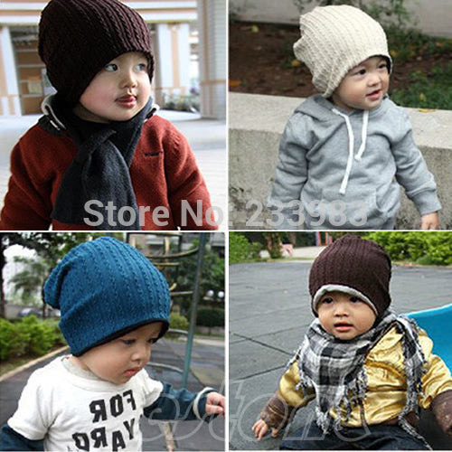Children Beanie Hat Warm Winter Cool Boys Girls Cap Hot - c6d9.co [#product_title]