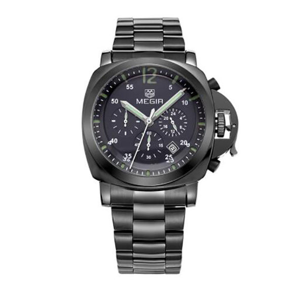 Men Top Brand Luxury Watches Clock Stainless Steel Quartz Wristwatches - c6d9.co [#product_title]