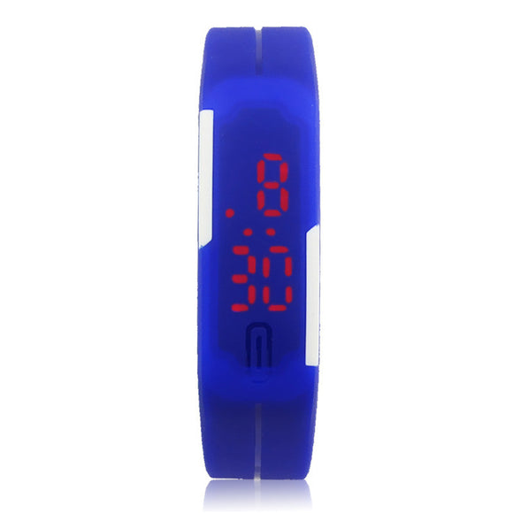 New Ultra Thin Men Girl Sports Silicone Digital LED Sports Wrist Watch - c6d9.co [#product_title]