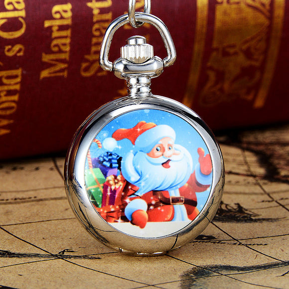 Christmas Vintage Style Pocket Chain Necklace Watch Christmas Gift Pocket Watch - c6d9.co [#product_title]