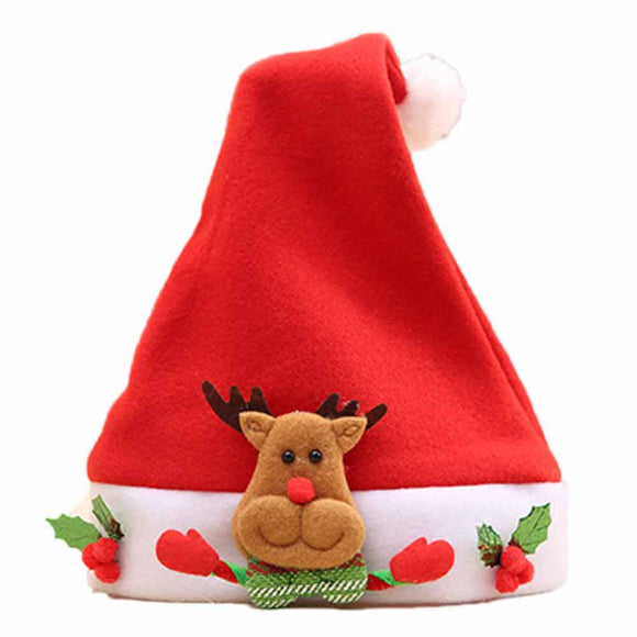 Christmas Elk Red Hat Cozy Soft Warm Children Santa  Headgear - c6d9.co [#product_title]
