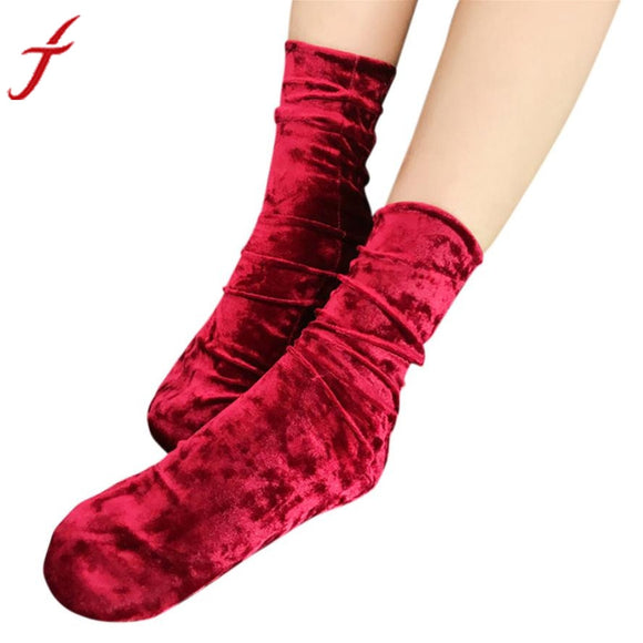 Fashion Women Casual Solid Socks Design Multi-Color Warm Winter - c6d9.co [#product_title]