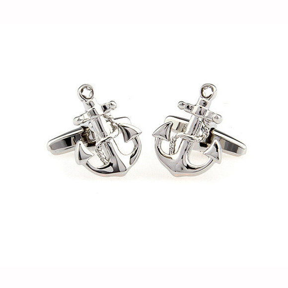 Anchor Silver CuffLinks 925 Silver - c6d9.co [#product_title]