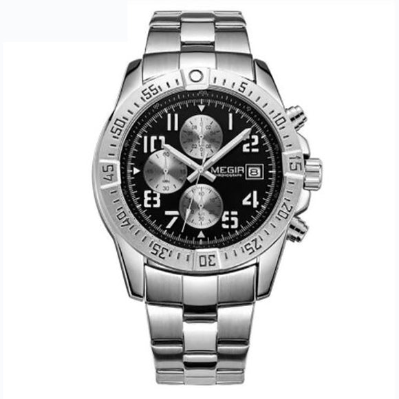 Men's Stainless Steel Army / Military Quartz Watch - c6d9.co [#product_title]