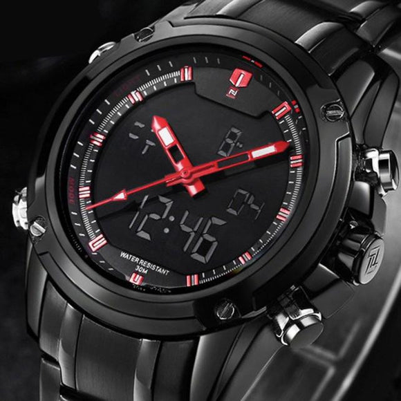 Military Sports Men's Dual-display Multi-function Stainless Steel Mens Watches - c6d9.co [#product_title]