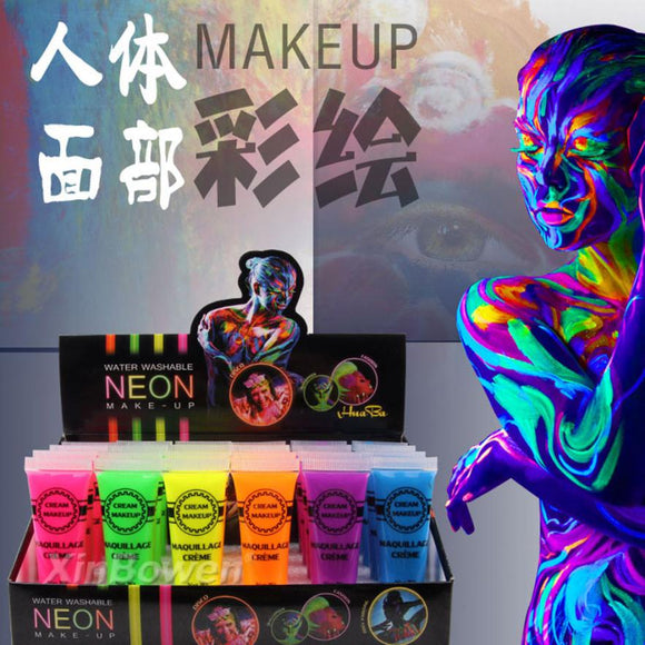 Intense Neon Face Body Paint Color Dance Festival Rave Tattoo Paint Oil Painting Art Halloween Party Dropshipping Wholesale #Y - c6d9.co [#product_title]