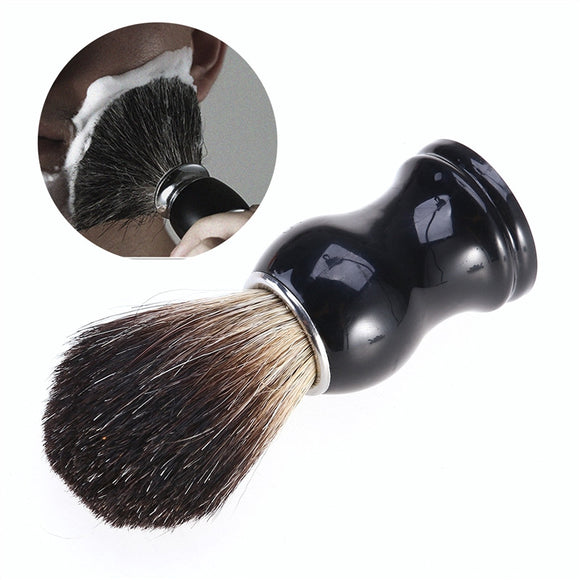 Badger Hair Shaving Brush Beard Mustache Cleaning Grooming Shaving Tool for Men - c6d9.co [#product_title]