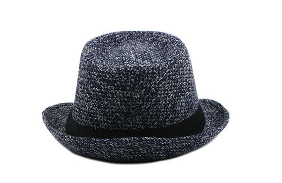 Winter Fedoras Men's Jazz Cap Vintage Derby Style  Bowler Hat - c6d9.co [#product_title]