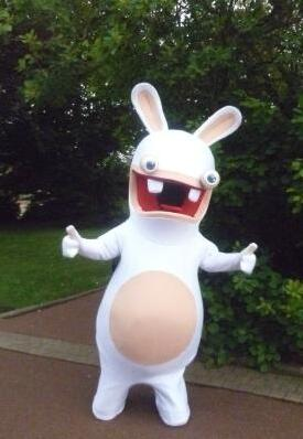 Rayman Raving Rabbids Mascot Costume Adult Size Fancy Dress For Christmas Halloween Carnival Party - c6d9.co [#product_title]