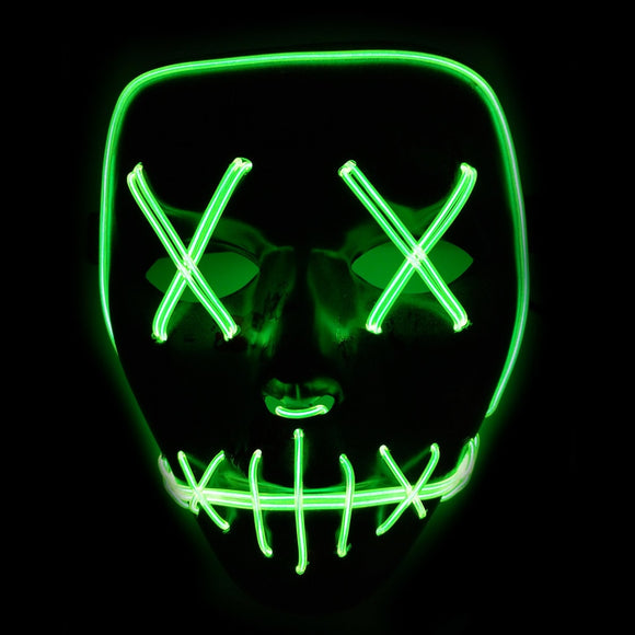 New Arrival Party Cosplay Mask LED Light Up Flashing Skull Mask Skeleton Halloween Rave Party Favor Lighting Accessories BS