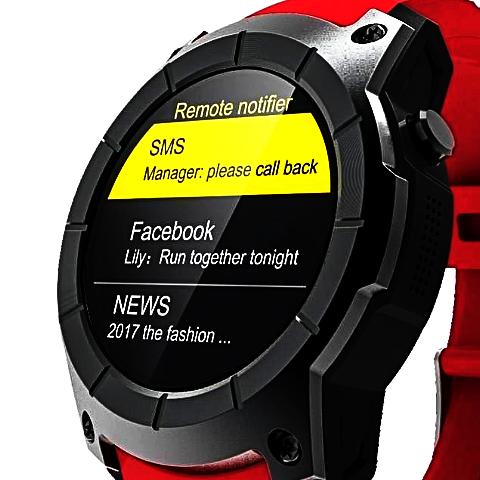 GPS 2G BT Smart Heart Rate Sport Watch-BLACK - c6d9.co [#product_title]