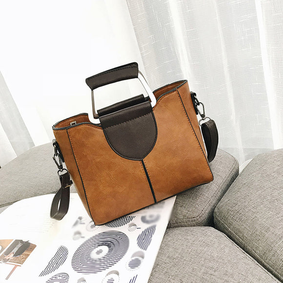 Women's Leather Shoulder Bag With Crossbody Bag & Handbag - c6d9.co [#product_title]
