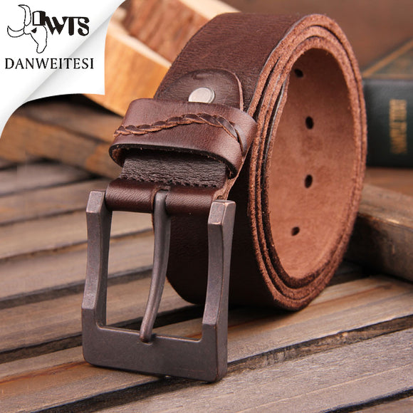 Real Genuine Leather Men's Belt with Luxury Buckle - c6d9.co [#product_title]