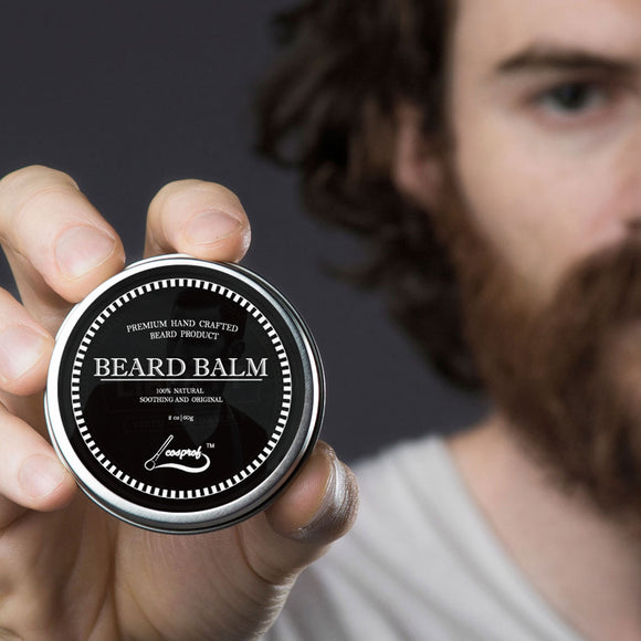 60g 100% Natural Beard Balm Moustache Growth Product Cream Beard Oil Conditioner Beard Balm Beard Moustache Wax - c6d9.co [#product_title]