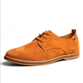 Blue Suede Shoes - Men's Casual Flats Blue Suede Oxfords Leather Shoes - c6d9.co [#product_title]
