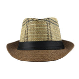 Fedora Jazz Cap for Men and Women  -  Classic Panama Derby - c6d9.co [#product_title]