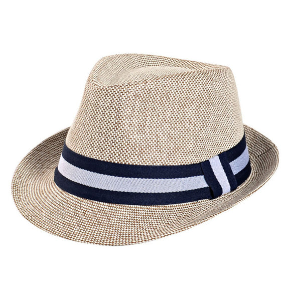 Straw Fedora Hat for Men - Jazz Cap - c6d9.co [#product_title]