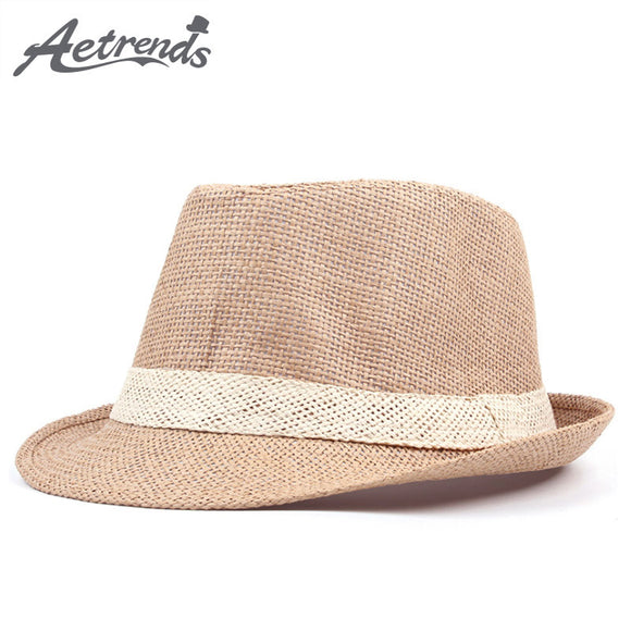 Summer Straw Hat for Men and Women Fedora - Beach Hat - c6d9.co [#product_title]
