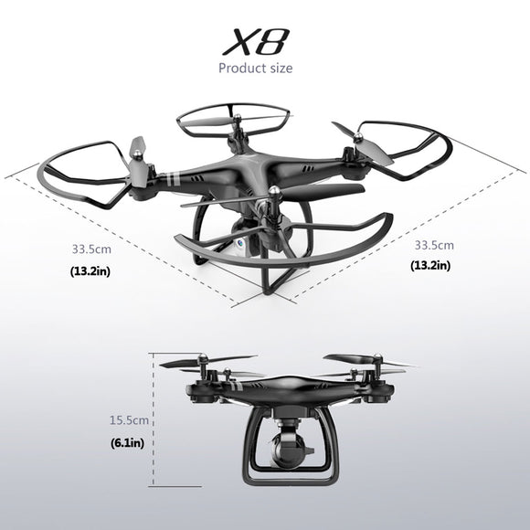 High Performance Drone Endurance 18 Minutes 360 degree Rolling Altitude HD Camera WIFI Quadcopter - c6d9.co [#product_title]