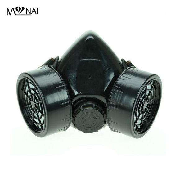 Steampunk Black Cyber Respirator 2 Canisters 1 Valve Rave Steam Punk Cos play Industrial Masks - c6d9.co [#product_title]