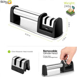 Knife sharpener  Kitchen Knives Grinder Whetstone Sharpening Stone Grindstone 2 Stage Tungsten Ceramic Knife Accessories Tool - c6d9.co [#product_title]