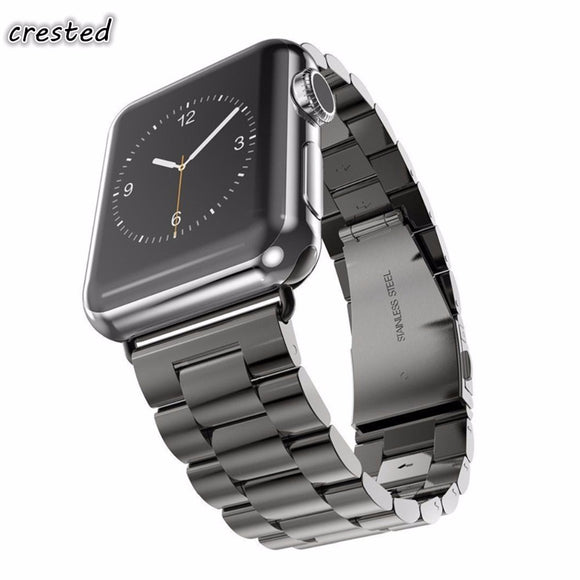 CRESTED Stainless Steel strap For Apple Watch band 42mm/38mm iWatch 3 2 1 straps Link Bracelet wristband replacement watchband - c6d9.co [#product_title]