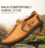 Split Leather Moccasins - Comfortable Big Size Casual Loafers / Moccasins - c6d9.co [#product_title]