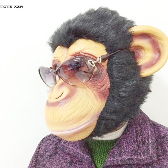 Latex gorilla cosplay mask Rise of Planet of the Apes Halloween masquerade Monkey Animal Costume Carnival Purim Rave Party masks - c6d9.co [#product_title]