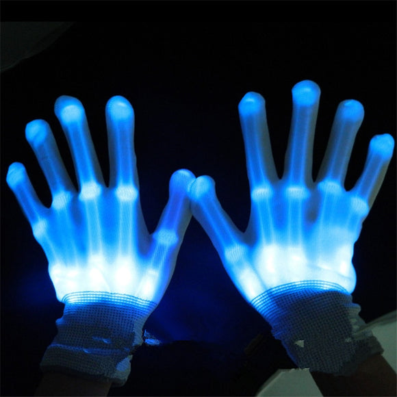 Hot selling 10pcs/lot Colorful Led Gloves Rave Light Finger Lighting Flashing Skeleton Holloween Christmas Gift Party Supplies - c6d9.co [#product_title]