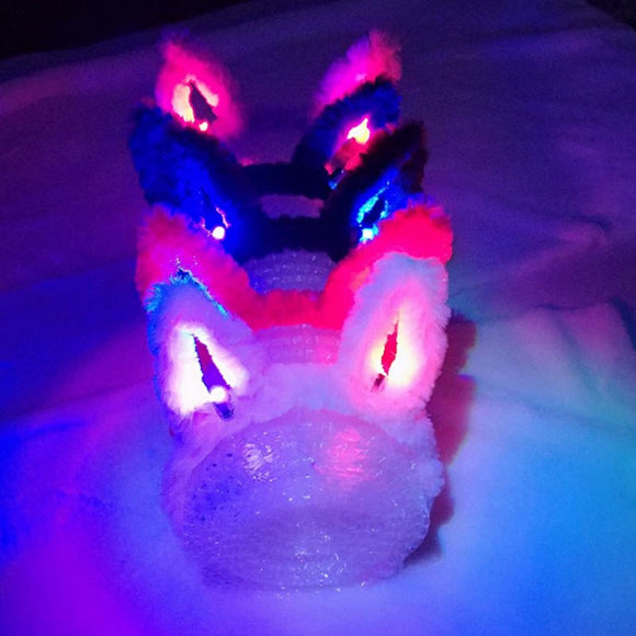 Bunny LED Light Up Flashing Party Rave Bridal Headband Rave Costume Dress Up for bachelorette party  Bunny Rabbit Headban - c6d9.co [#product_title]