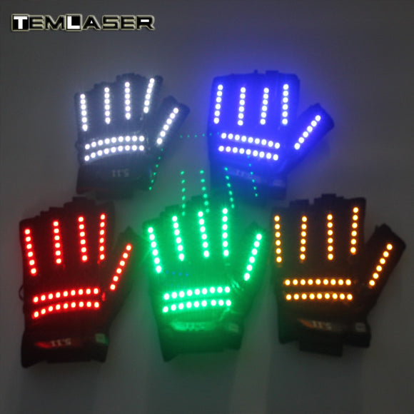 LED Glow Gloves Rave Light Flashing Finger Lighting Glow Mittens Magic Black luminous gloves LED luminous costumes - c6d9.co [#product_title]