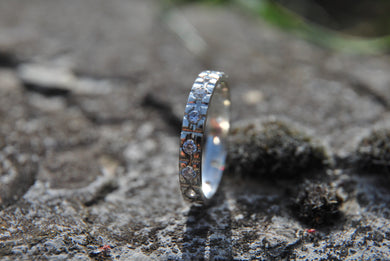 Silver ring with 15 Cz