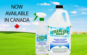 Charlie's Soap Indoor/Outdoor Surface Cleaner Now Available in Canada!