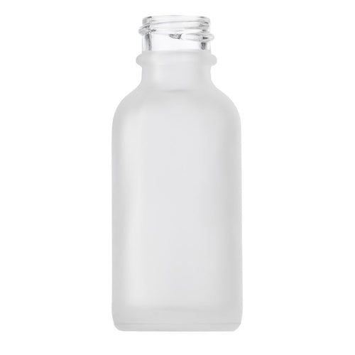 1oz (30ml) Frosted Glass Boston Round Bottle with 20-400 Neck Finish