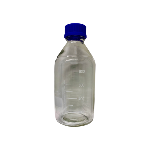 1000mL Round Borosilicate Glass Media Storage Bottle