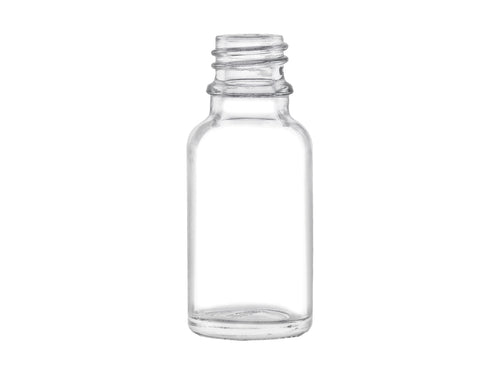 15ml (1/2oz) Clear Glass Euro Dropper Bottle with 18-DIN Neck Finish