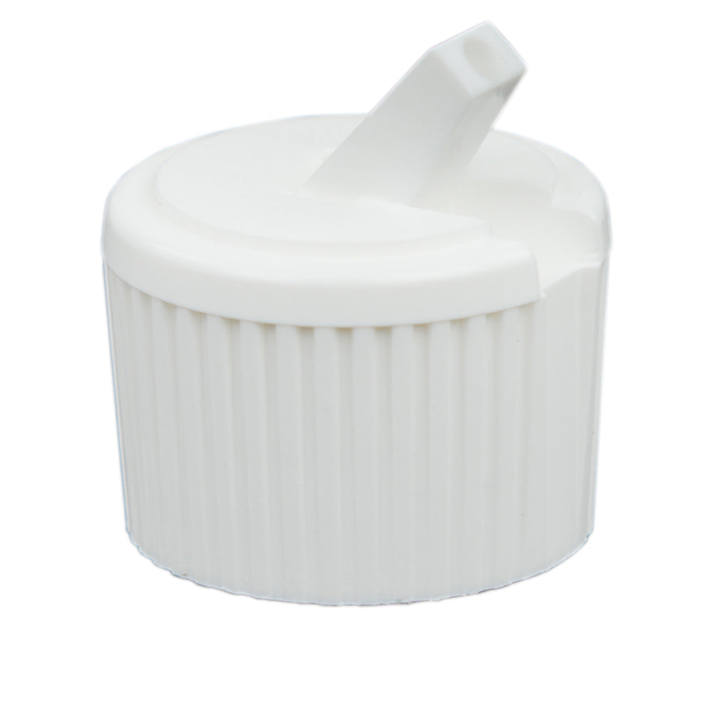 24-410 White Ribbed-Skirt Flip-Top Cap