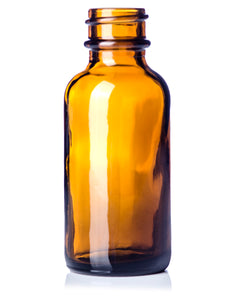 1oz (30ml) Amber Glass Boston Round Bottle with 20-400 Neck Finish