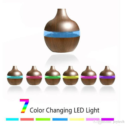 Essential Oil Diffuser - 200mL Capacity with 7-Color LED