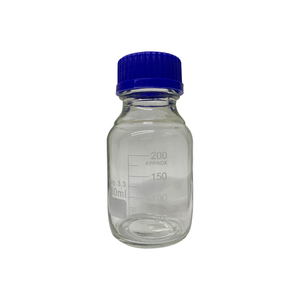 250mL Round Borosilicate Glass Media Storage Bottle