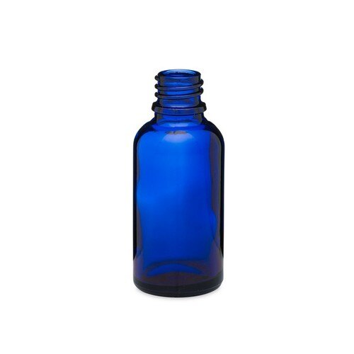 30mL (1oz) Cobalt Blue Glass Euro Bottle with 18 DIN Neck Finish
