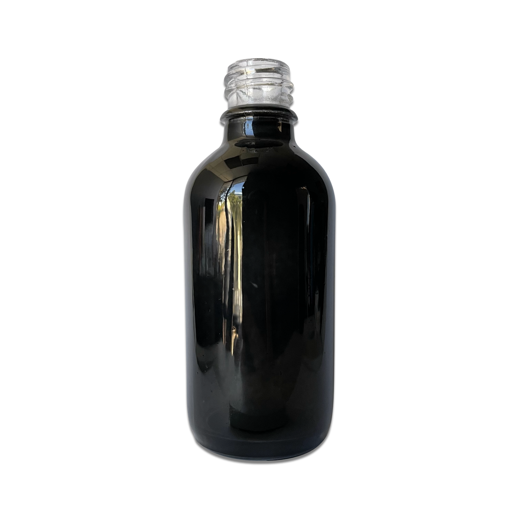 60mL (2oz) Gloss Black Glass Euro Dropper Bottle with 18 DIN Neck Finish