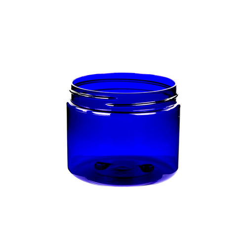 6oz (180ml) Cobalt Blue PET Single Wall Jar with 70-400 Neck Finish